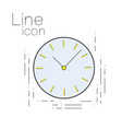 icon time in linear simple style clock sign vector image vector image