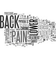 is lower back pain a barrier to your fitness vector image vector image