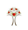 Italian heart tree vector image vector image