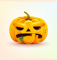 jack-o-lantern terrible facial expression autumn vector image vector image