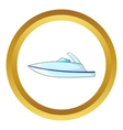 Little powerboat icon vector image vector image