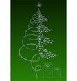 luxury Christmas tree vector image
