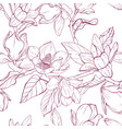 magnolia bouquet seamles pattern vector image vector image