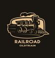 old steam train emblem logo vector image vector image