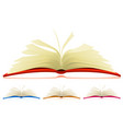 open book set vector image vector image