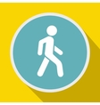 Pedestrians only road sign icon flat style vector image vector image