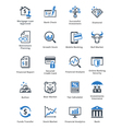 Personal Finance Icons Set 1 - Blue Series vector image vector image