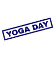 rectangle grunge yoga day stamp vector image