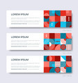 retro abstract geometric design web banners vector image
