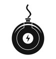 round wireless charger icon simple style vector image vector image