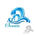 Sea wave or surf symbol vector image vector image