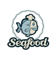 seafood logo fishing fish or restaurant vector image vector image