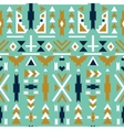Seamless colorful aztec pattern Green background vector image vector image