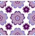 seamless floral vivid violet pattern vector image vector image