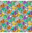 seamless pattern with random skulls vector image
