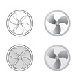 set of fans vector image vector image