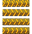 Set of geometrical seamless patterned borders vector image