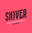 shiver style font vector image vector image