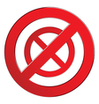 Sign forbidden circle vector image vector image
