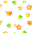 star icon set seamless pattern vector image vector image