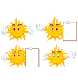 sun cartoon collection vector image vector image