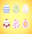 The dyed eggs for Easter vector image vector image