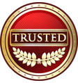 trusted red icon vector image vector image