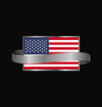 united states of america flag ribbon banner design vector image