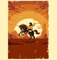 vintage wild west colorful template vector image