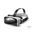 virtual reality headset vr mask mock up vector image vector image
