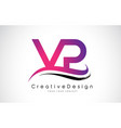 vp v p letter logo design creative icon modern vector image vector image