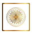 circular pattern geometric icon gold flower vector image