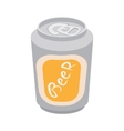 Beer can cartoon icon vector image
