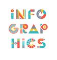 Infographics Word Logo vector image