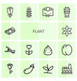 14 plant icons vector image vector image