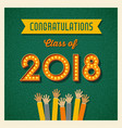 2018 graduation card design vector image vector image