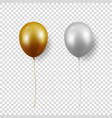 3d realistic glossy metallic gold silver vector image vector image