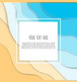 abstract blue sea and beach summer background with vector image vector image