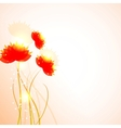 Abstract red flowers background vector image vector image