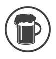 beer in mug icon Simple vector image vector image
