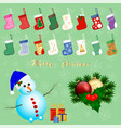 big colored set different types of baby socks vector image