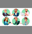 business people in a hole behavior concept vector image vector image