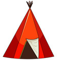 camping tent isolated on white background vector image vector image