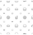 cheese icons pattern seamless white background vector image vector image
