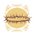 christ thorns crown vector image vector image