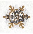 christmas card with snowflake v6 silhouette vector image vector image