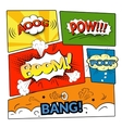 Comic bubbles isolated set vector image