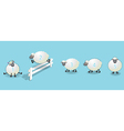 counting sheep queue vector image