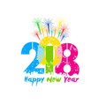creative happy new year 2018 greeting design vector image vector image