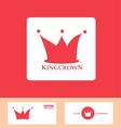 Crown logo red icon set vector image vector image